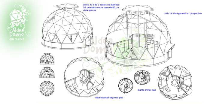 Planos de domos geodesicos buscar con google casas y - Casas geodesicas ...