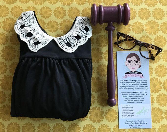 RBG Ruth Bader Ginsburg Kid's Supreme Court Justice Costume Kit