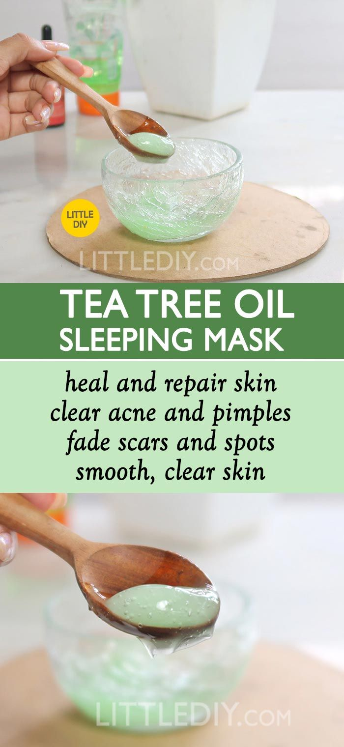 CLEAR ACNE OVERNIGHT WITH TEA TREE OIL