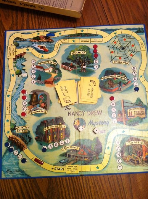 A Nancy Drew board game!!  Looks like fun.