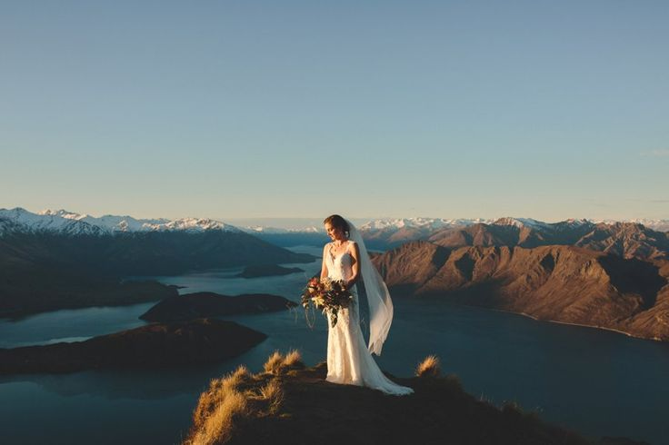 mountain top heli wedding Hair by Absolutely Fabulous Hair www.absolutelyfabuloushair.co.nz photo by Williams Photography