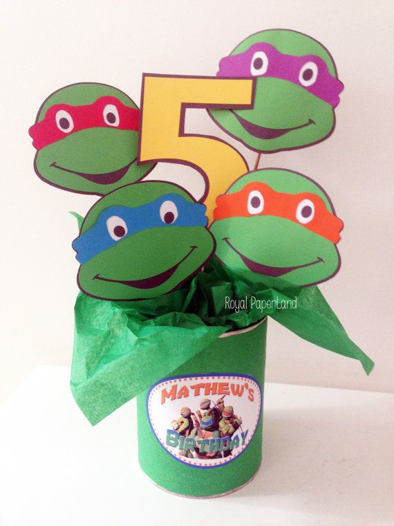 This listing is for ONE set of 4 Teenage Mutant Ninja Turtles and a custom number.