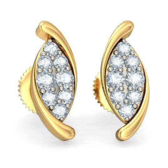 The Classic Romance Earrings | Diamond Earring In 18Kt Yellow Gold