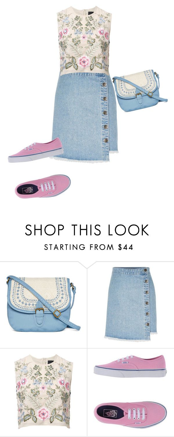 """Мокасины"" by gerusm on Polyvore featuring мода, T-shirt & Jeans, River Island, Needle & Thread и Vans"