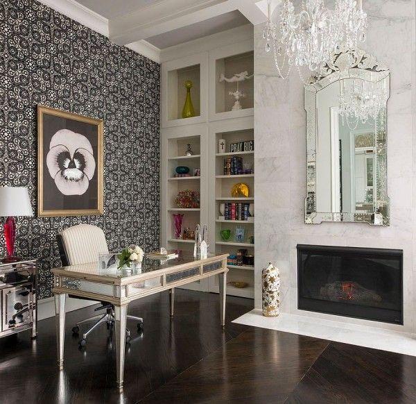 Дизайн современного офиса: зеркало в венецианском стиле