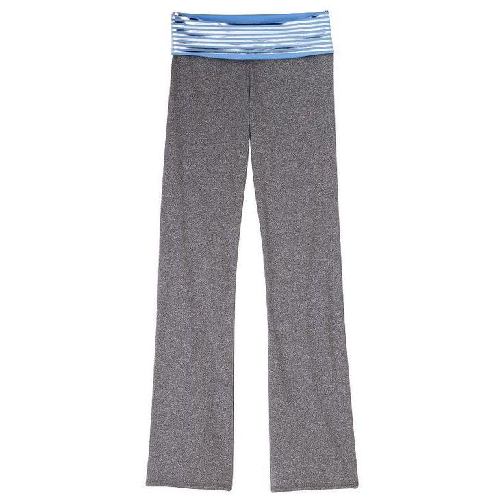 Girls 7-16 & Plus Size SO® Fold-Over Slim Bootcut Yoga Pants, Girl's, Size: 18 1/2, Med Blue