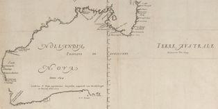 Thevenot's 1663 map of Terra Australis Incognita