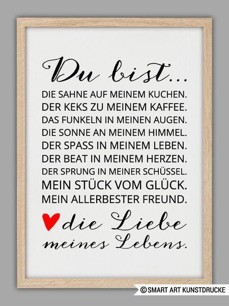 """""""LIEBE+MEINES+LEBENS""""+Kunstdruck+von+SMART+ART+Kunstdrucke+®+auf+DaWanda.com"""