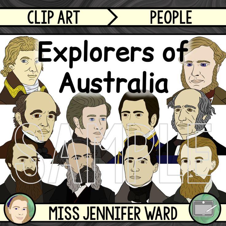 Australian Explorers Clip Art MEGA BUNDLE