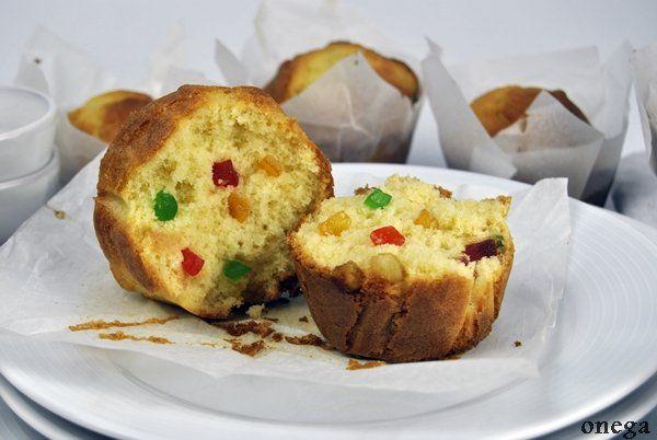 #receta de #Magdalenas con frutas confitadas paso a paso #recipes