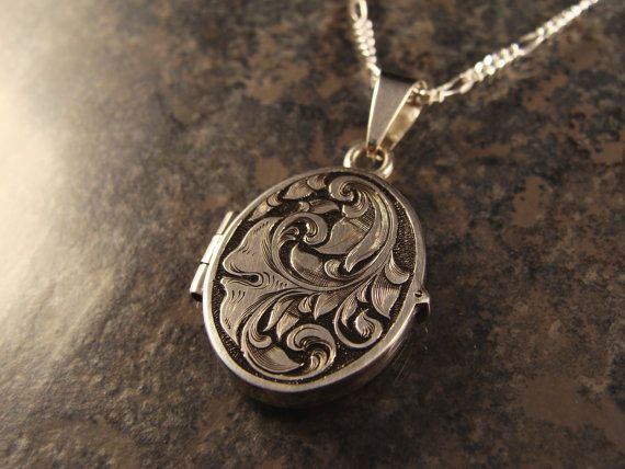 Hand Engraved Art Nouveau Inspired Sterling by JelliesJewelry, $229.00