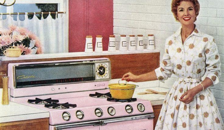 donna anni 50 cucina - Cerca con Google