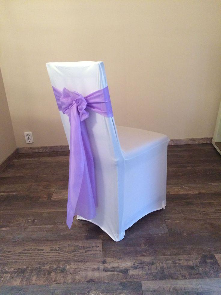 Bérelhető spandex székszoknya levendula lila színű selyem masnival Érd