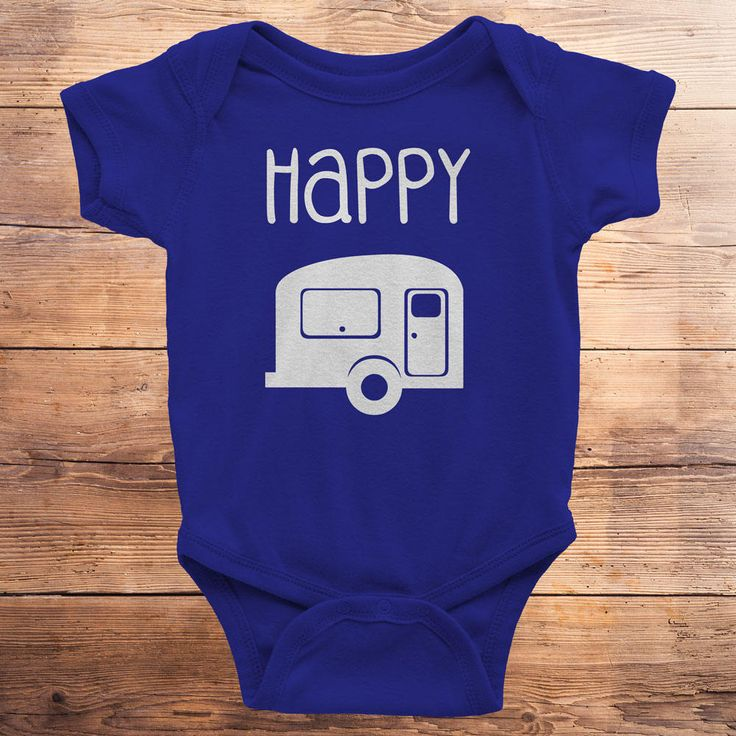 happy camper, happy camper shirt, happy camper gift, happy camper tshirt, camping, baby shower gift, little camper, woodland, outdoors by FoxyDesignsLLC on Etsy