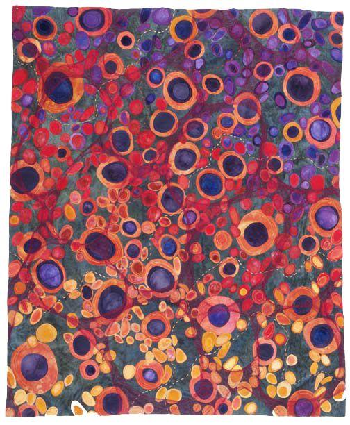 BiodiversityIII: Karen Kamenetzky Art Quilt: Art Inspiration, Colors, Biodivers Iii, Biodiv Iii, Artists Karen, Art Quilts, Inspiration Quilts, Fiber Art, Karen Kamenetzki