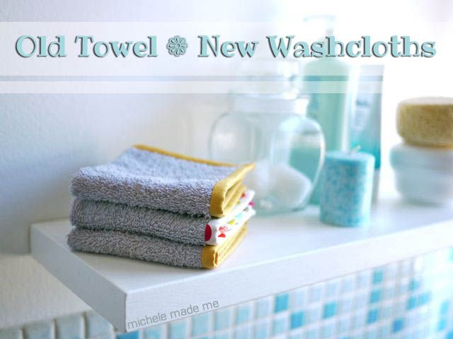Rescuing old towels!