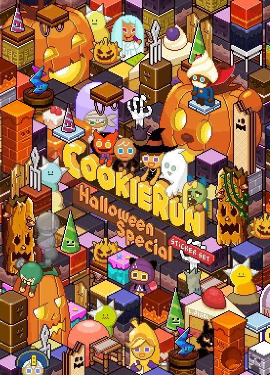 간만에 올리는 픽셀아트 작업 #쿠키런 #할로윈 #스티커 #픽셀아트 #픽셀 #cookierun #pixel #pixelart #bravecookie #gingerbrave #halloween #sticker