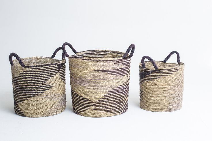Round Basket Ombre Natural