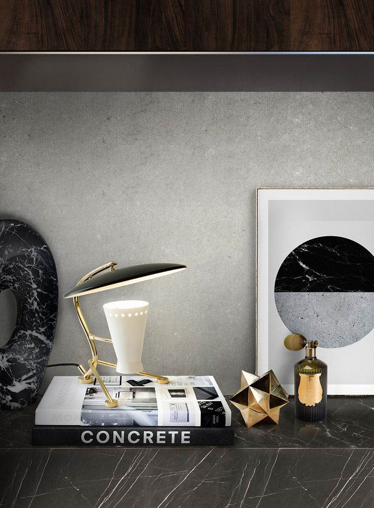 Meola table lamp by DelightFull gives an extraordinary light and life to your Office Ideas.