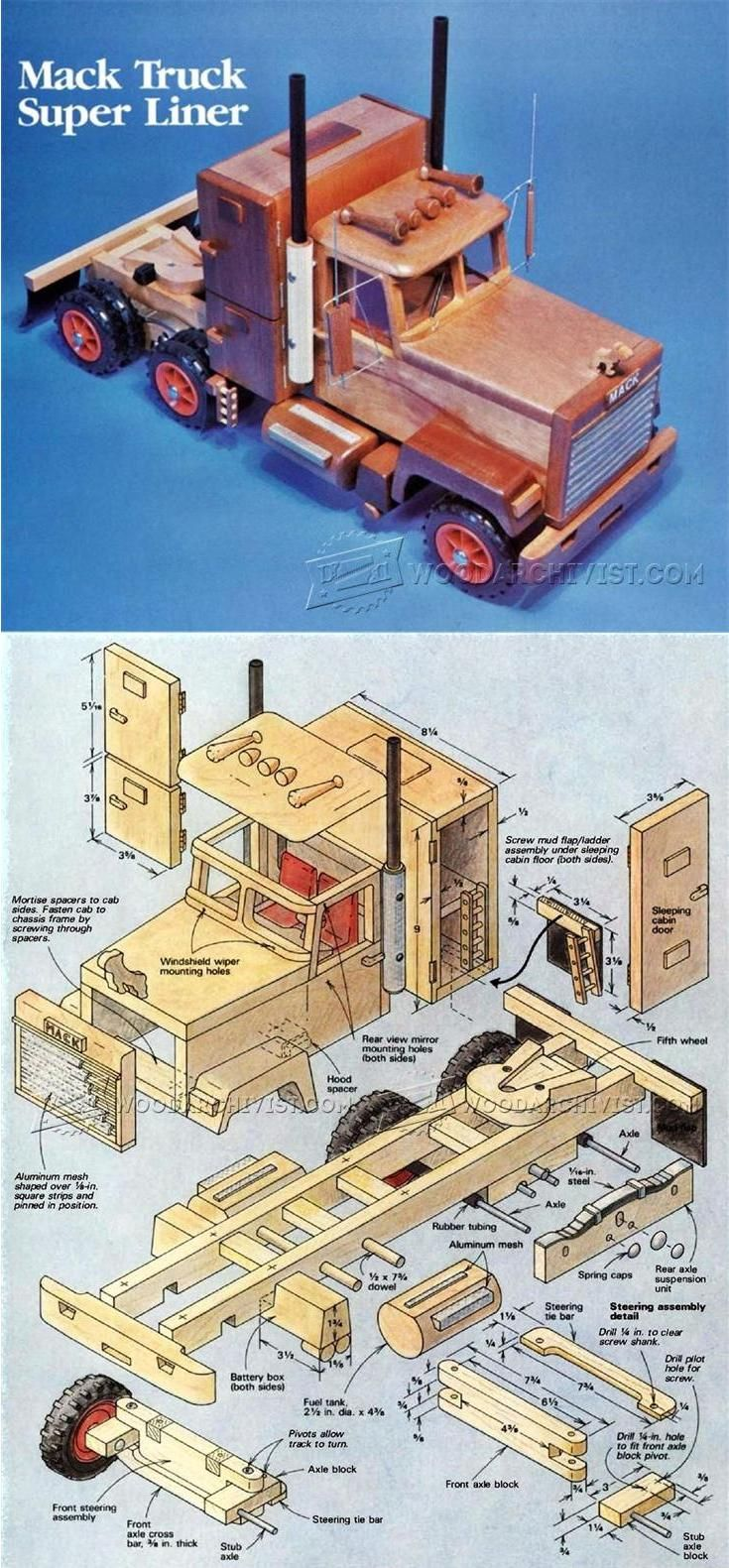 Toys toy boxes and fire trucks on pinterest - Wooden Truck Plans Wooden Toy Plans And Projects Woodarchivist Com