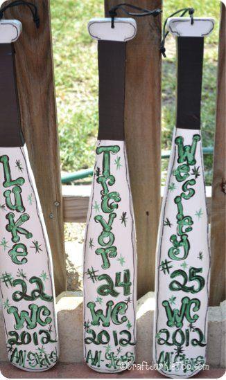 Craft Junkie Too: All Star Team Baseball Bats {Project}
