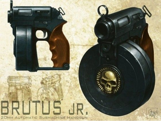 Brutus Jr. 20mm Automatic Submachine Handgun