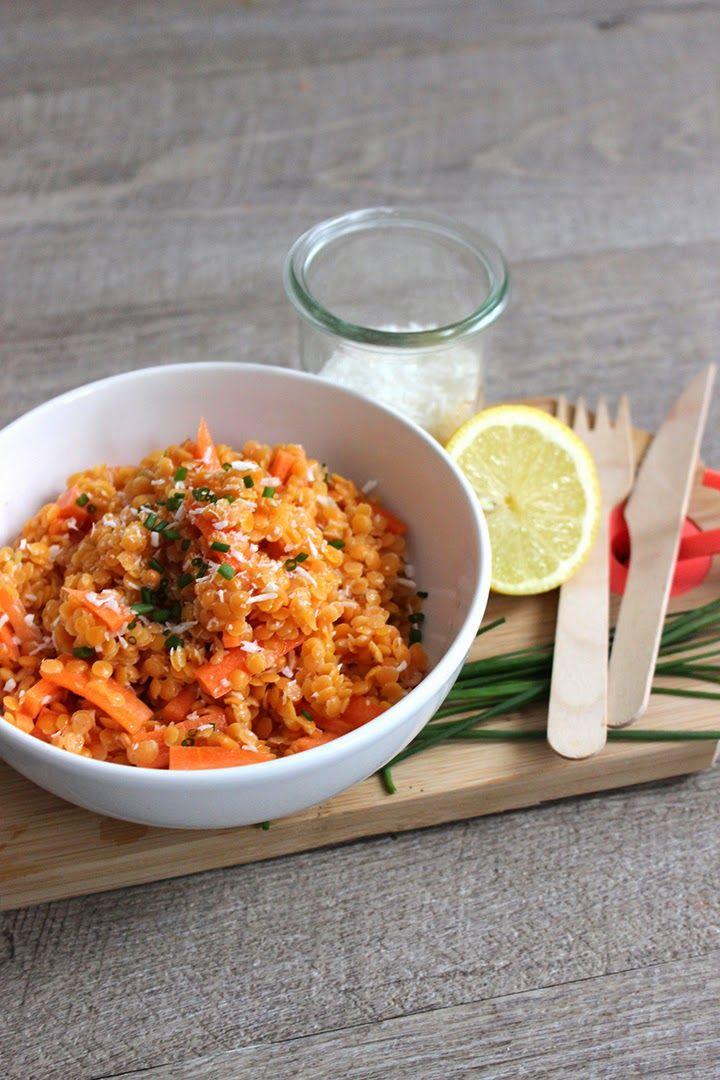Salade lentilles corail-carotte-coco.  Bonjour Darling