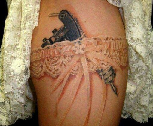 I ink 1800 39 s garter lace garter leg wrap tattoo for How to put ink in a tattoo gun