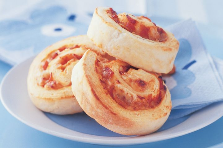 Cheese and bacon scrolls