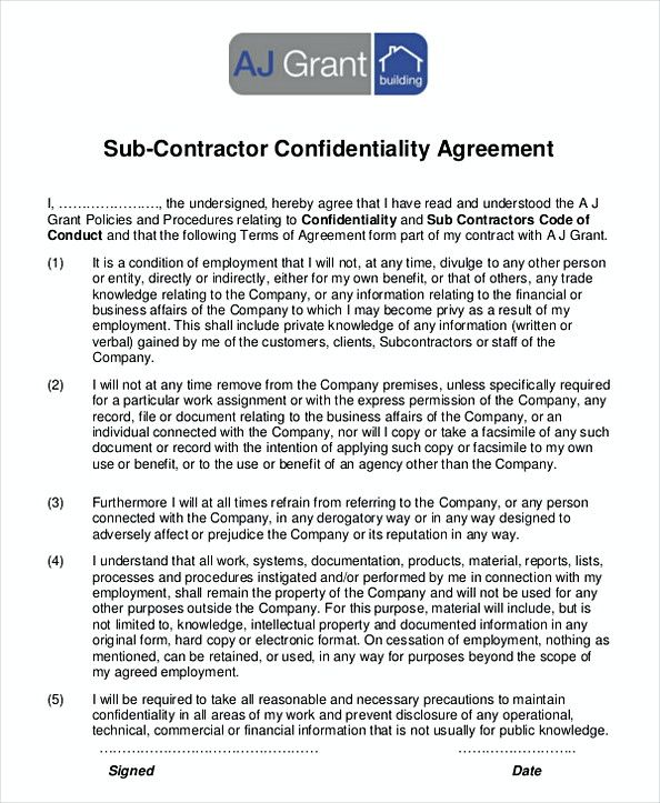 49 Subcontractor Agreement And What You Should Include Business Rules Template Word Employee Handbook Template