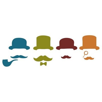 very distinguished mustaches.