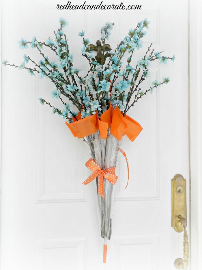 Best 25+ Umbrella wreath ideas on Pinterest   Diy spring ...