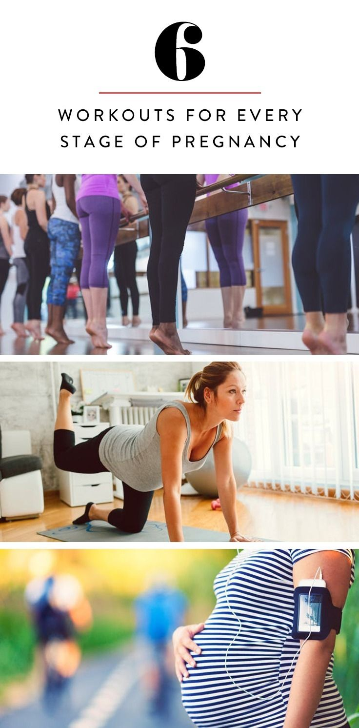 From barre to swimming, here are six workouts you can do throughout your pregnancy.