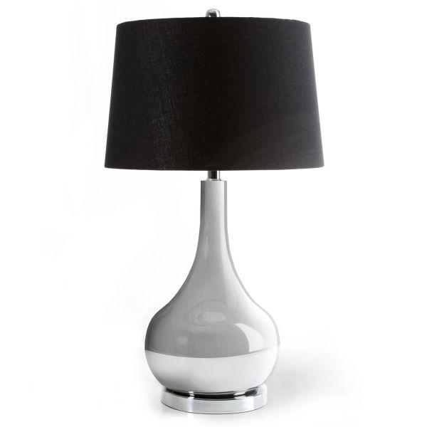 Chrome Finish Metal Table Lamp Shade