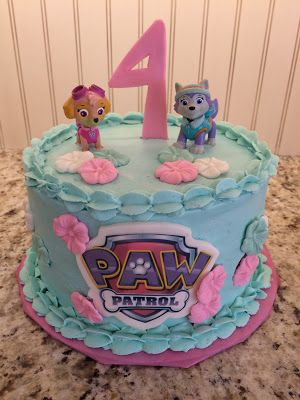 Colour scheme: Skye and Everest Cake - Paw Patrol Birthday Party