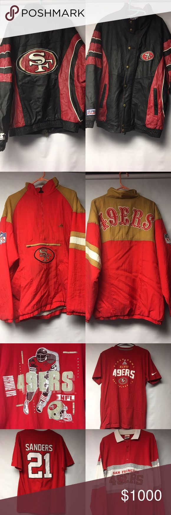 Vintage SanFransisco 49ers Team Apparel Great Vintage SAN Fransisco 49ers Apparel. Teeshirts, Jackets and Hats. Taking Offers. Vintage Jackets & Coats