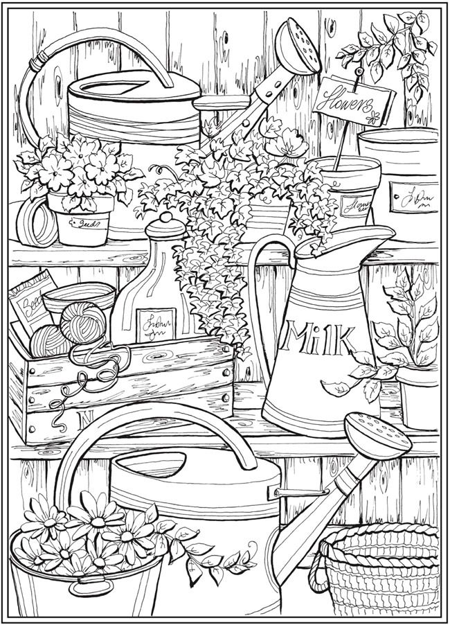 Page 2 Of 7 COUNTRY CHARM A Creative Haven Coloring Book By Teresa Goodridge Welcome To Dover Publications