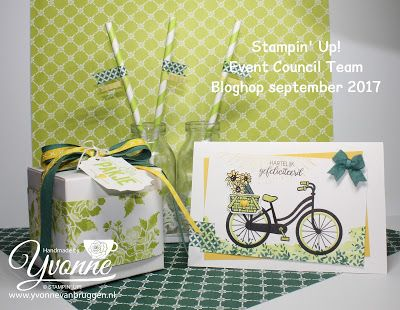 Yvonne is Stampin '& Scrapping: Stampin' Up! Bike Ride, Lemon Lime Twist & Tranquil Tide #stampinup #yvonnevanbruggen