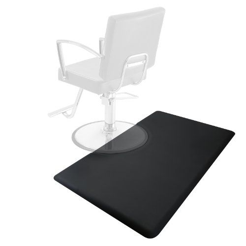 "3' x 5' Salon & Barber Shop Chair Anti-Fatigue Floor Mat - Black Rectangle - 1/2"" Thick Saloniture http://www.amazon.com/dp/B00I50OI1O/ref=cm_sw_r_pi_dp_OZ0Ptb14GDWHB823"