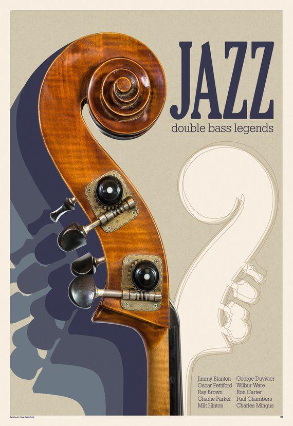 Jazz Double Bass Legends Jazz Poster Jazz Wall Art Music Poster Music Wall Art Double Bass Jazz Legends Jazz Music Jazz Print In 2021 Jazz Poster Music Wall Art Jazz Wall Art