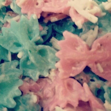 Hair Bows or Bow Ties?  Pasta Salad Gender Reveal  Bowtie Pasta Salad
