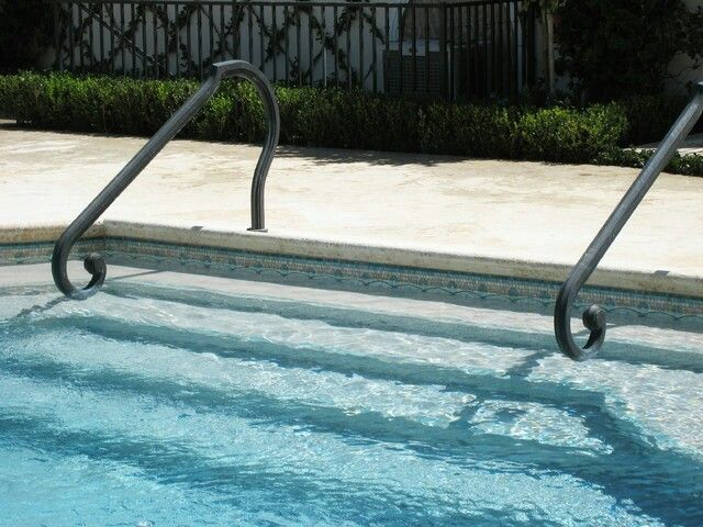 Best metal pool handrails images on pinterest ladders