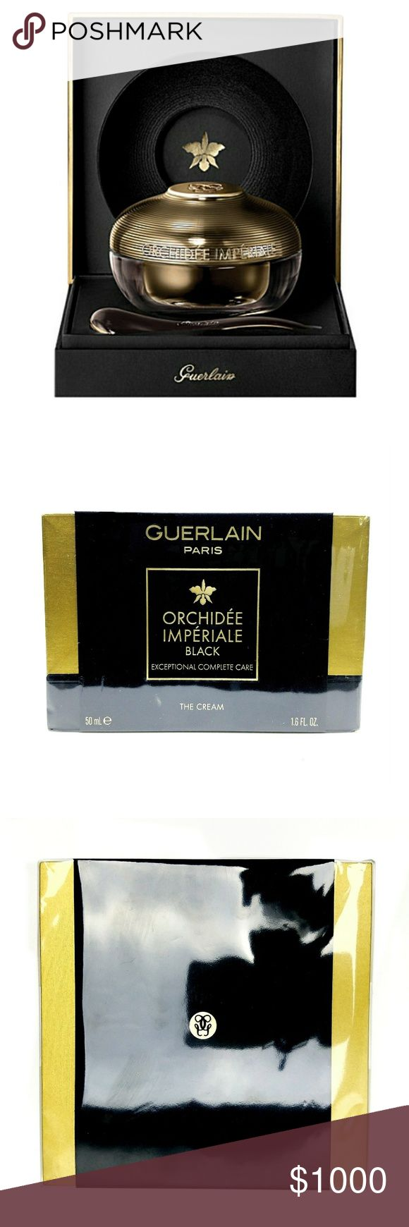 "🆕(NWOT) GUERLAIN Orchidee Imperiale Black Cream Here it is, the crème de la crème of skincare: GUERLAIN Orchidée Impériale Black - 'The Cream'. Touted as the, ""Ultimate talisman of youth"", Guerlain's Orchidée Impériale Black Cream improves on their original Orchidée Impériale  formula & is the result of 15 years of research. Containing rare black orchid from the Peruvian Andes, the cream protects the skin & rolls back the signs of aging: wrinkles fade, skin texture becomes refined & facial…"