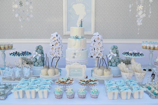 Inspire-se com a decoração de festa Frozen mais encantadora que você já viu!