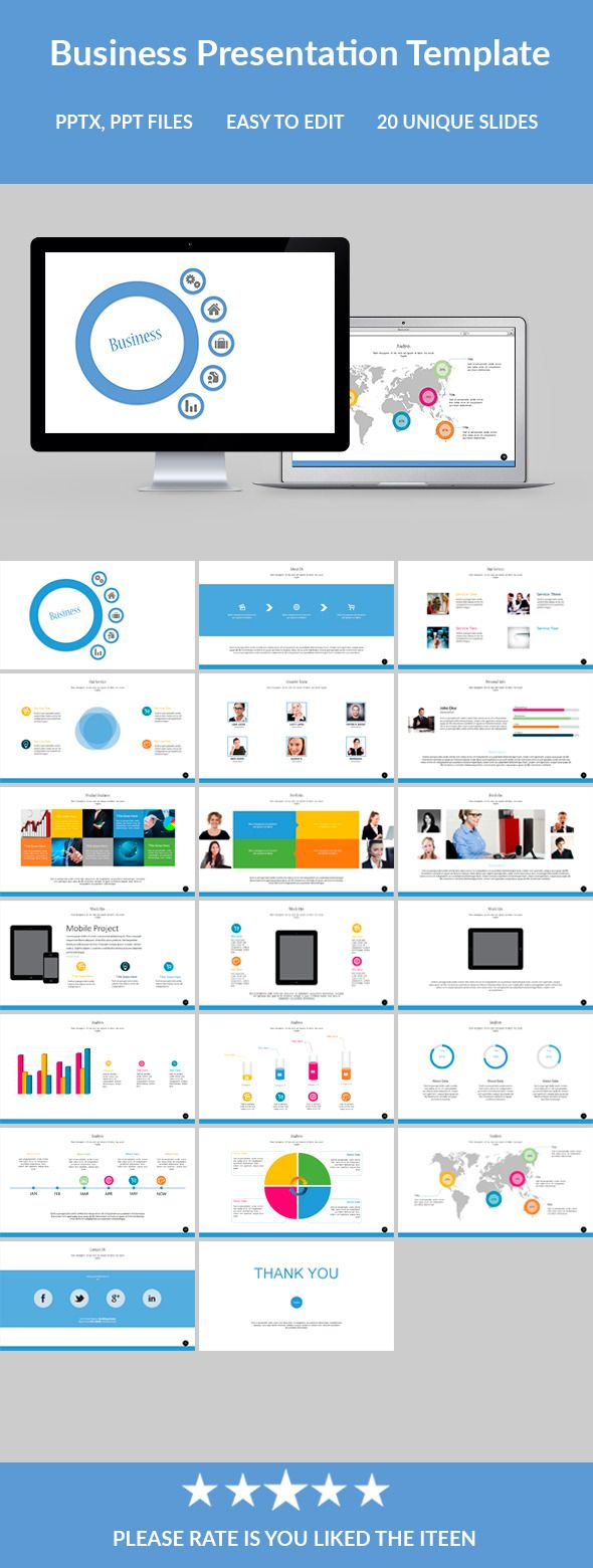 Business Powerpoint Presentation Template #design #slides Download: http://graphicriver.net/item/business-powerpoint-presentation-template/12128728?ref=ksioks