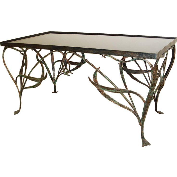 modern art nouveau furniture. art nouveau style wrought iron coffee table modern furniture k