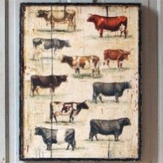 Framed Vintage Cow Breeds    $42.00 @ http://www.antiquefarmhouse.com/current-sale-events/obsessions.html