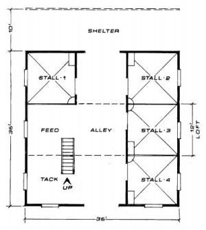 4 Stall Barn Maston Homes Equine Barn Plans