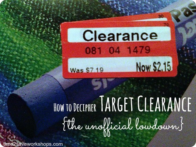 Saving Money Tips: How to Decipher Target Clearance Tags {The Unofficial Lowdown} on time2saveworkshops.com  #finance #deals #target
