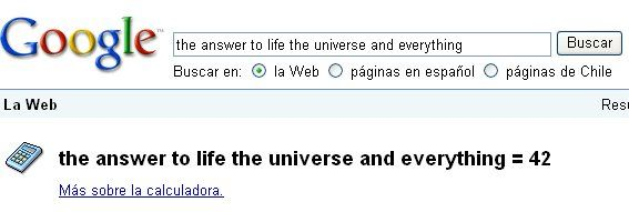 """the answer to life the universe and everything"""